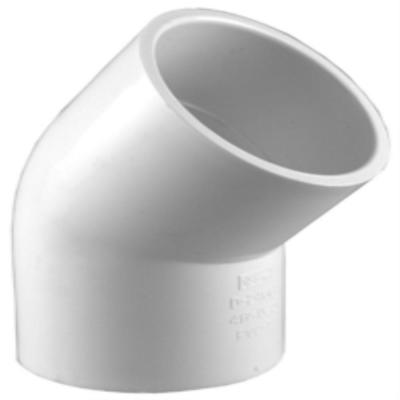 4 in. PVC Schedule 40 45-Degree S x S Elbow Fitting