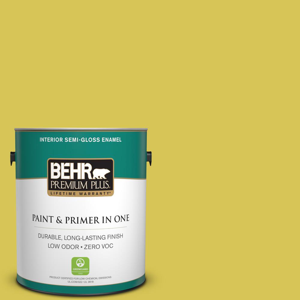 1 gal. #HDC-SM16-10 Pepperoncini Zero VOC Semi-Gloss Enamel Interior Paint