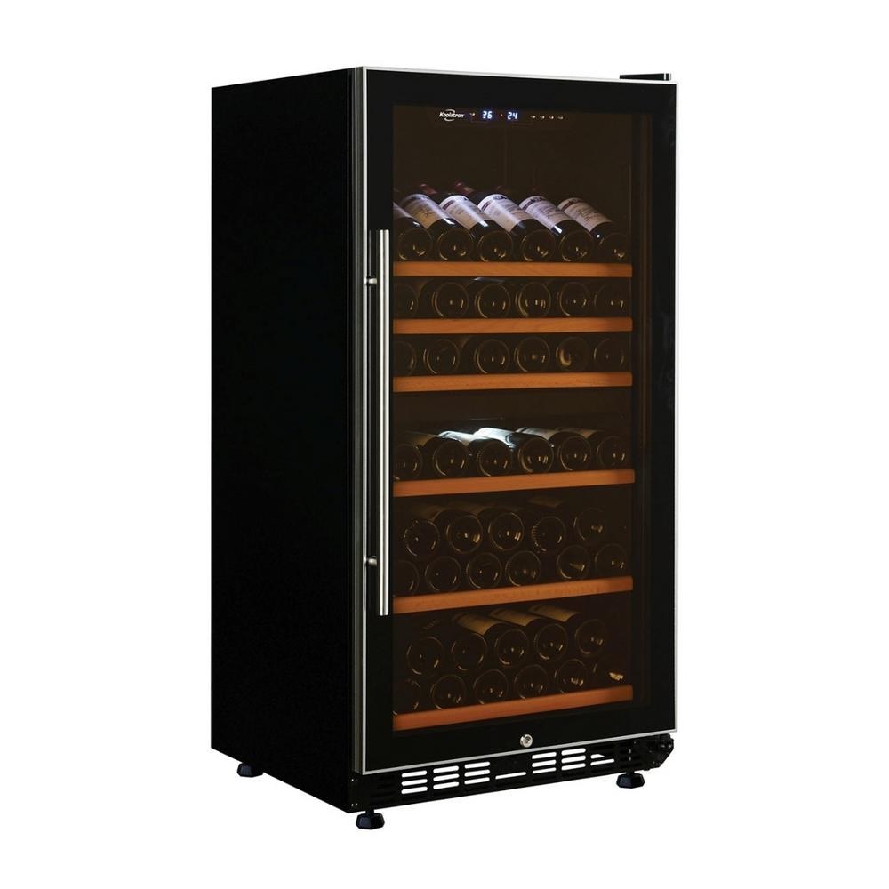 Koolatron 68-Bottle Dual Zone Freestanding Wine Cellar, Black