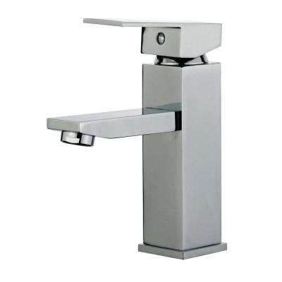 Granada Single Hole Single-Handle Bathroom Faucet with Overflow Drain in Polished Chrome