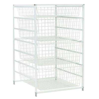 18 in. x 30 in. Drawer Kit with 4 Wire Basket