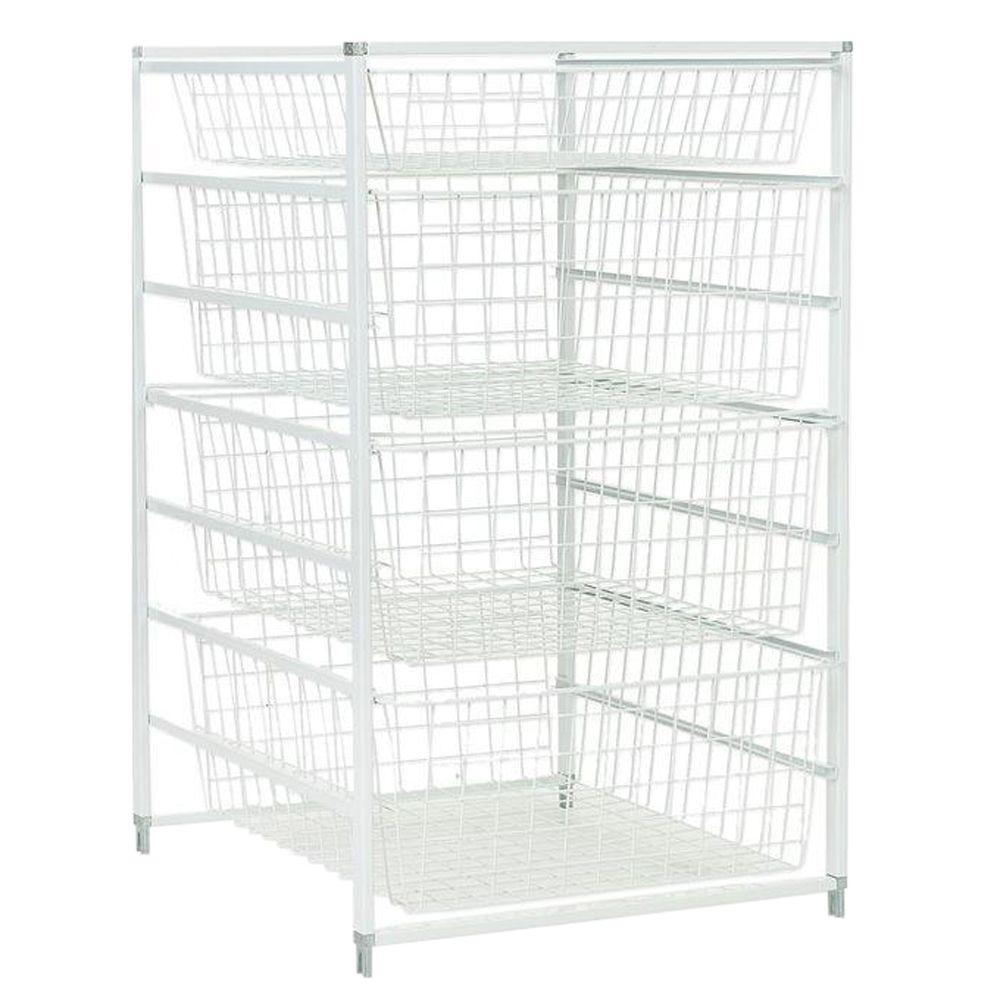 Uncategorized Sliding Basket Organizer rubbermaid configurations 23 5 in x 7 24 sliding wire basket fg3j0503wht the home depot