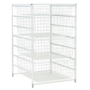 Wire Basket Drawer Systems | Closetmaid 17 875 In X 41 In Drawer Kit With 5 Wire Basket 6202