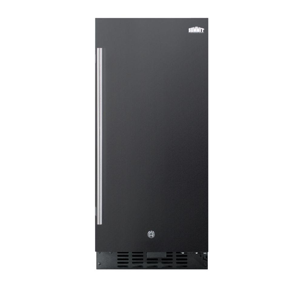 15 in. 3 cu. ft. Mini Refrigerator in Black