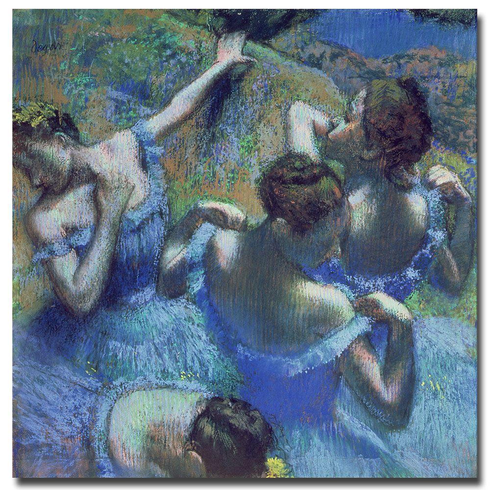 24 in. x 24 in. Blue Dancers 1899 Canvas Art