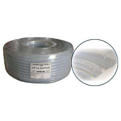 3/8 in. ID PVC Clear Braided Tubing Coil