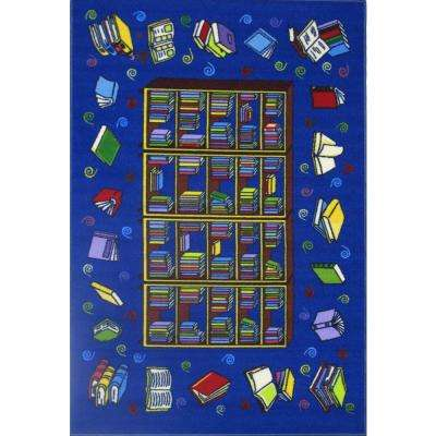 Fun Time Reading Time Multi Colored 19 in. x 29 in. Area Rug