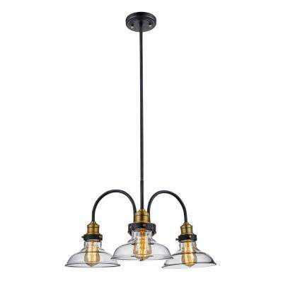 Jackson 3 Light Rubbed Oil Bronze Pendant