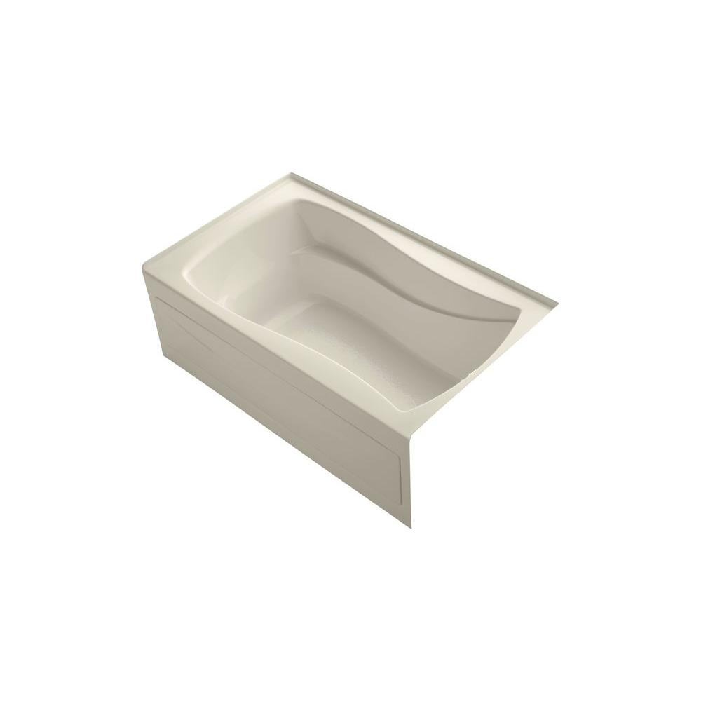 KOHLER Mariposa 5 ft. Right Drain Rectangular Alcove Soaking Tub Bathtub in Almond