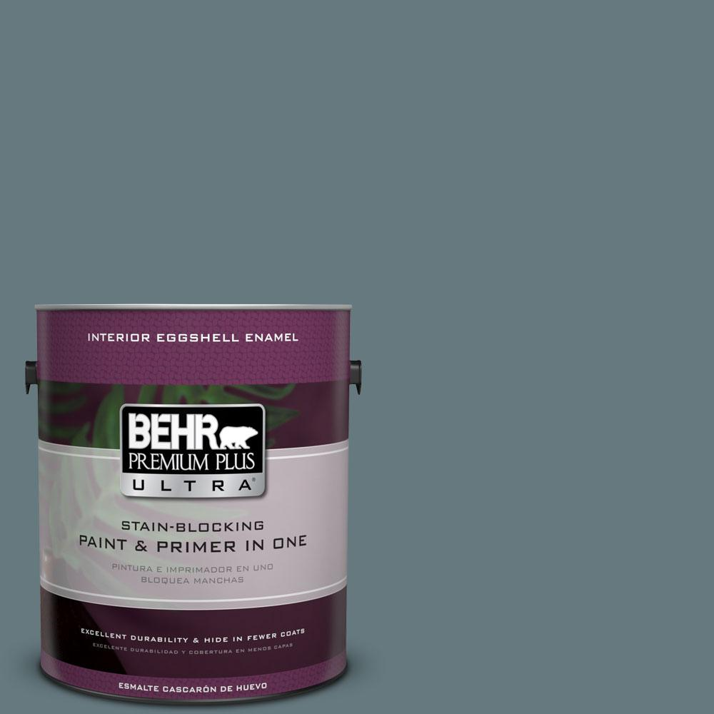 BEHR Premium Plus Ultra 1-gal. #BXC-81 Crater Lake Eggshell Enamel Interior Paint