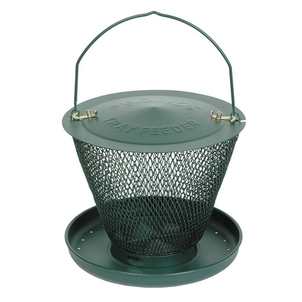 Forest Green Bird Feeder with Tray