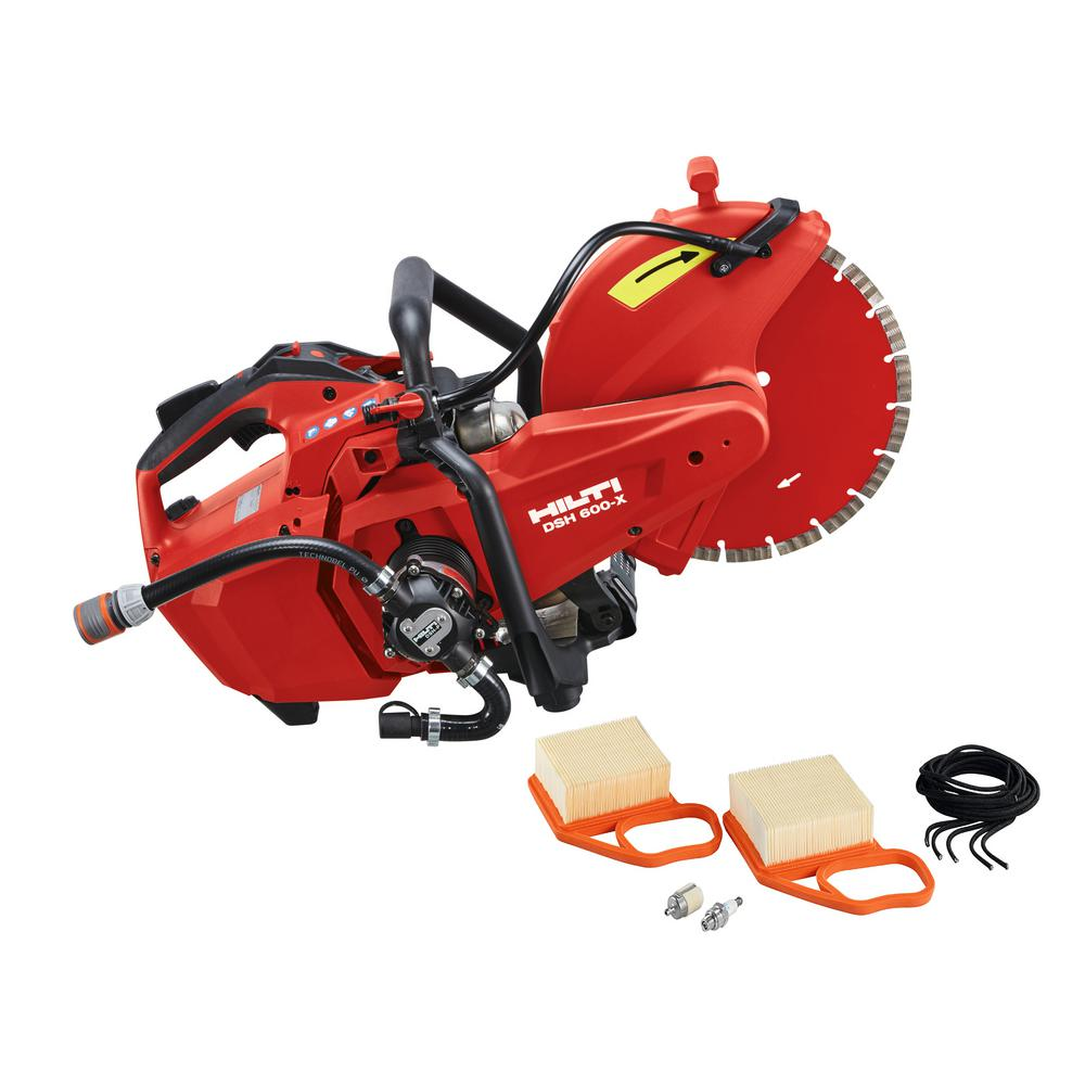 Hilti DSH 600-X 12 in. Hand Held Gas Saw with DSH-P Water Pump and 12 in. SPX Diamond Saw Blade