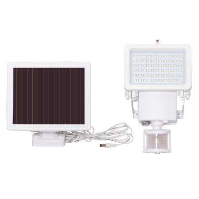 Solar White Outdoor Integrated LED Flood Light