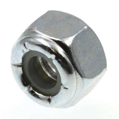 1/4 in.-20 Grade 2 Zinc Plated Steel Nylon Insert Lock Nuts (100-Pack)