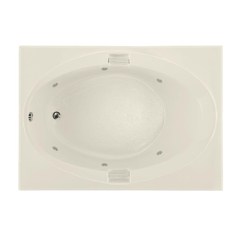 Hydro Systems Studio 5 ft. Reversible Drain Whirlpool Tub in Biscuit