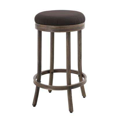 Decker Patio Bar Stool with Beige Cushions (Pack of 2)