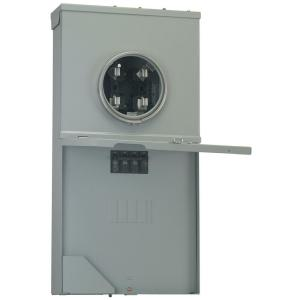 GE Power Mark Gold 200 Amp 4-Space 8-Circuit Meter Socket Load Center by GE