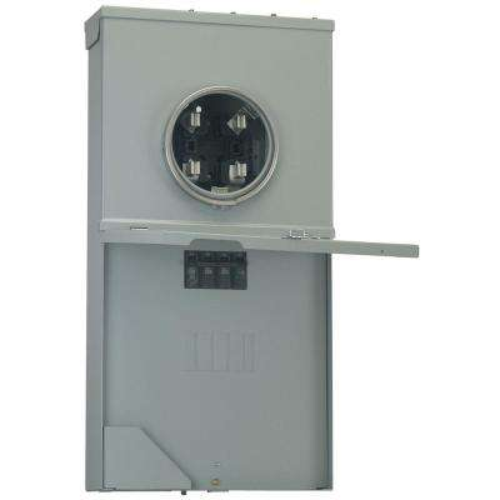 ge power mark gold 200 amp 4-space 8-circuit meter socket load center