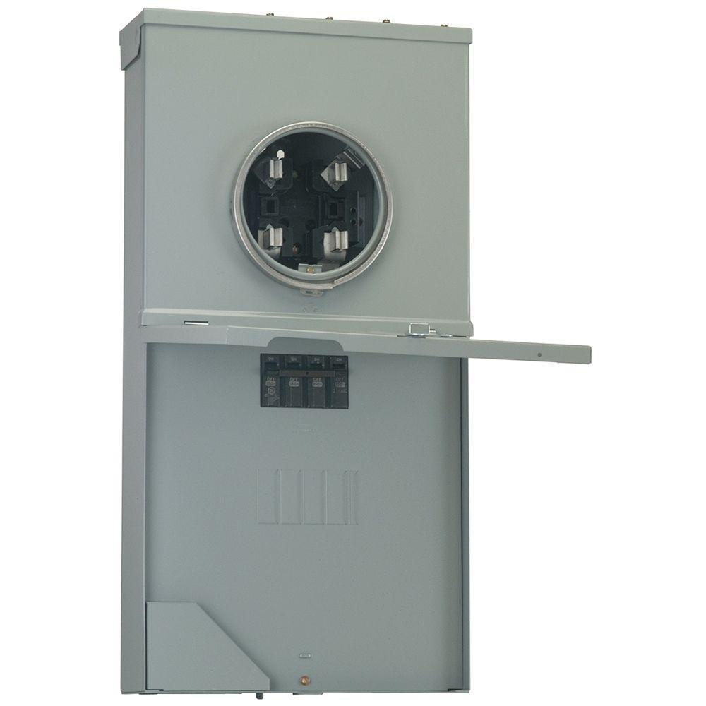 Power Mark Gold 200 Amp 4-Space 8-Circuit Meter Socket Load Center