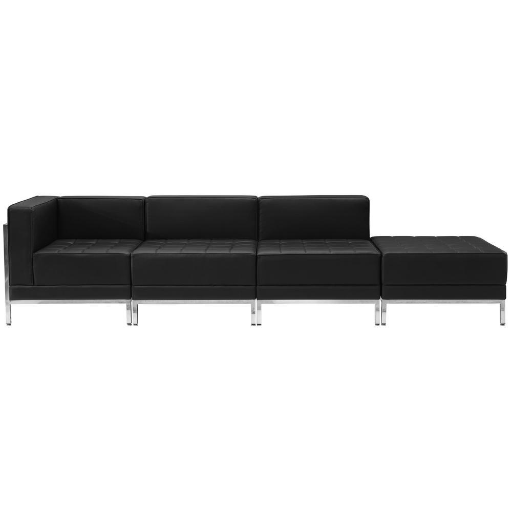 flash furniture hercules imagination series black leather 4 piece