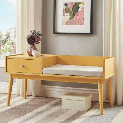 Langley Yellow Telephone Bench