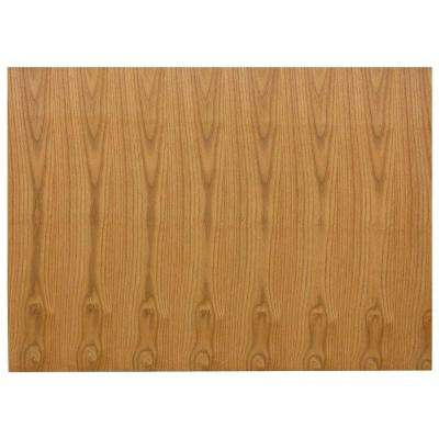 0.1875x34.5x48 in. Kitchen Island or Peninsula End Panel in Medium Oak
