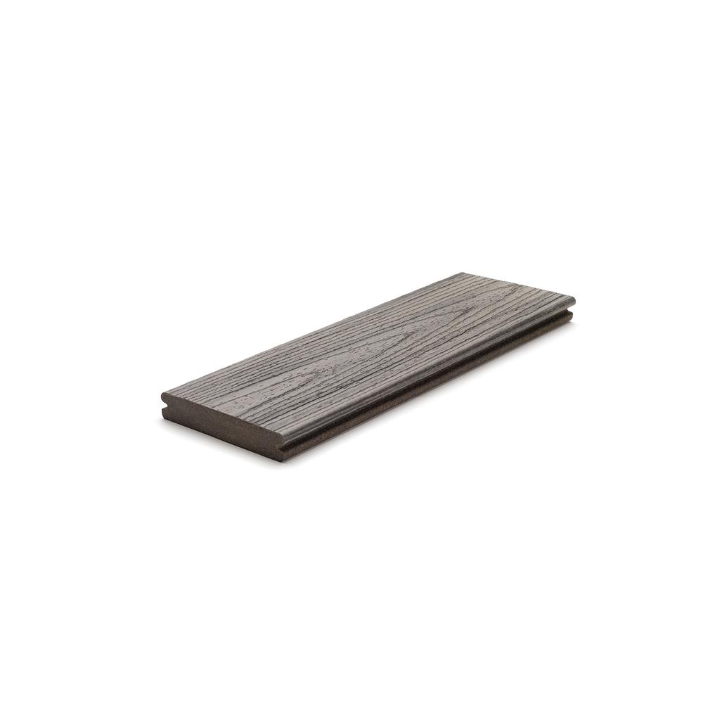 Trex Transcend 1 in. x 5.5 in. x 1 ft. Island Mist Composite Decking Board Sample