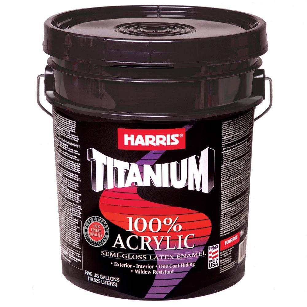 Harris Titanium 5 gal. Semi-Gloss Accent Base Interior/Exterior Enamel
