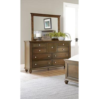 Progressive Furniture Cotswold Grove 9-Drawer Root Beer Dresser with Mirror
