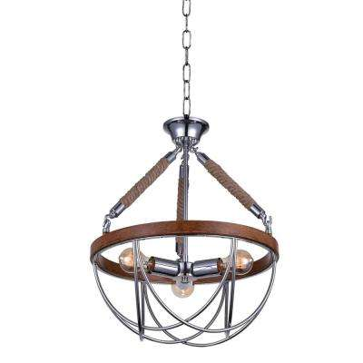 Parana 3-Light Chrome Chandelier