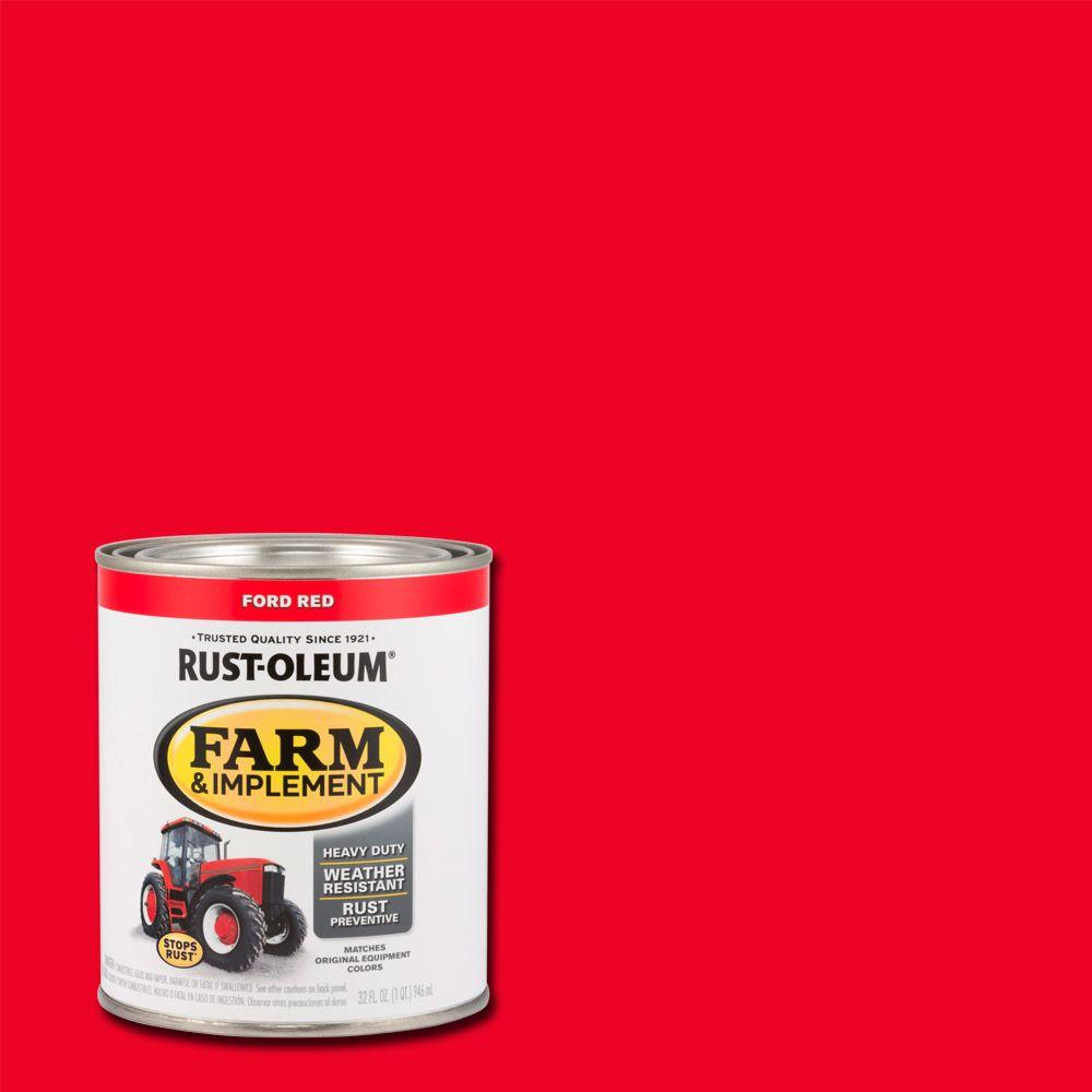 Rust Oleum 1 Qt Farm Implement Ford Red Enamel Paint 2 Pack 280155 The Home Depot