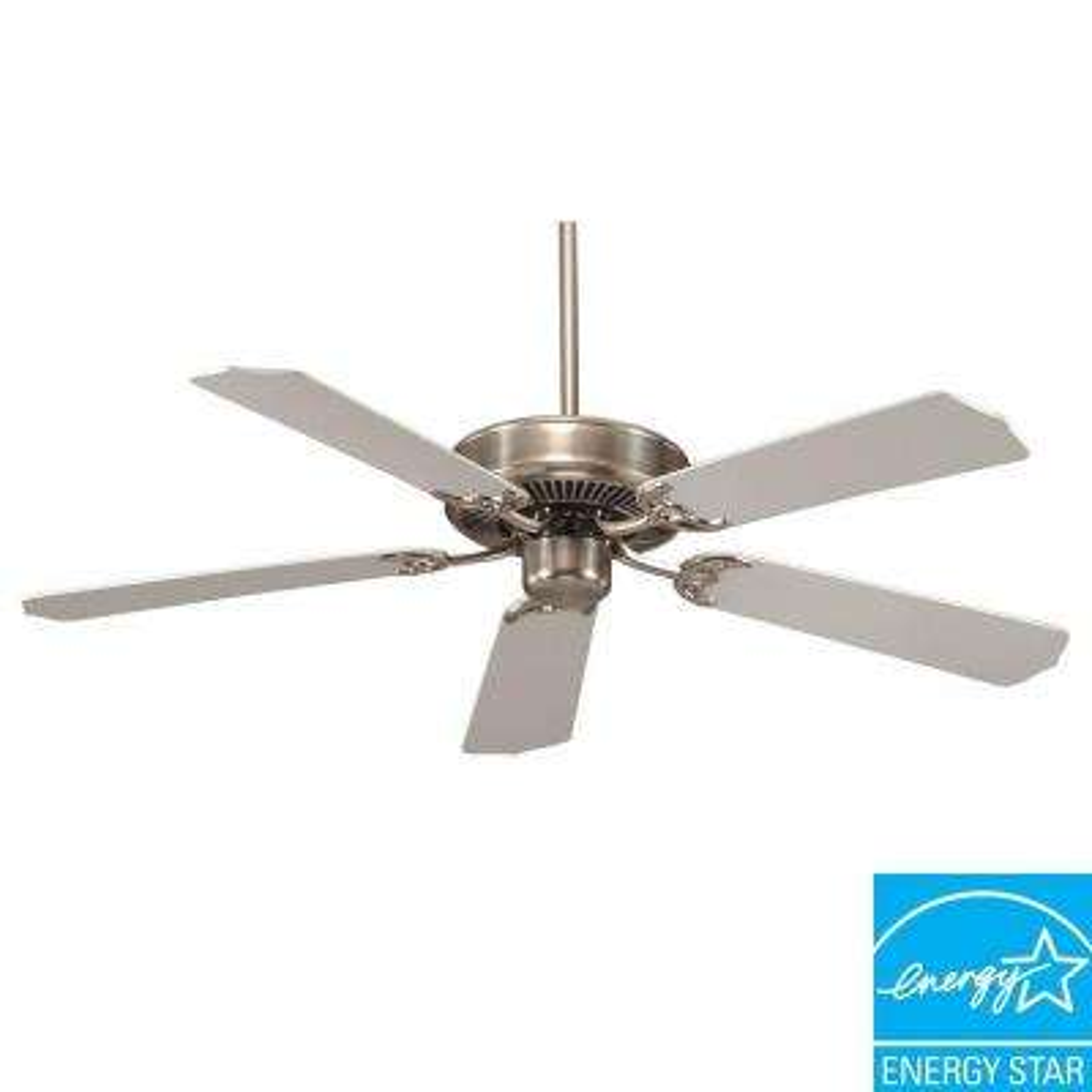 Builder Select 52 in. Satin Nickel Ceiling Fan