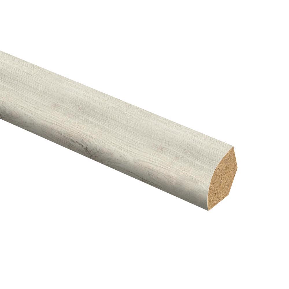 Ocala Oak/Chiffon Lace Oak/Salt Shore Wood 5/8 in. Thick x 3/4 in. Wide x 94 in. Length Vinyl Quarter Round Molding