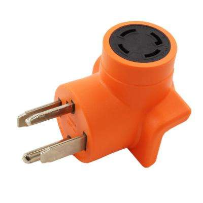 Dryer Outlet Adapter 4-Prong Dryer 14-30P Plug to 4-Prong Locking 30 Amp 125/250 L14-30R Adapter