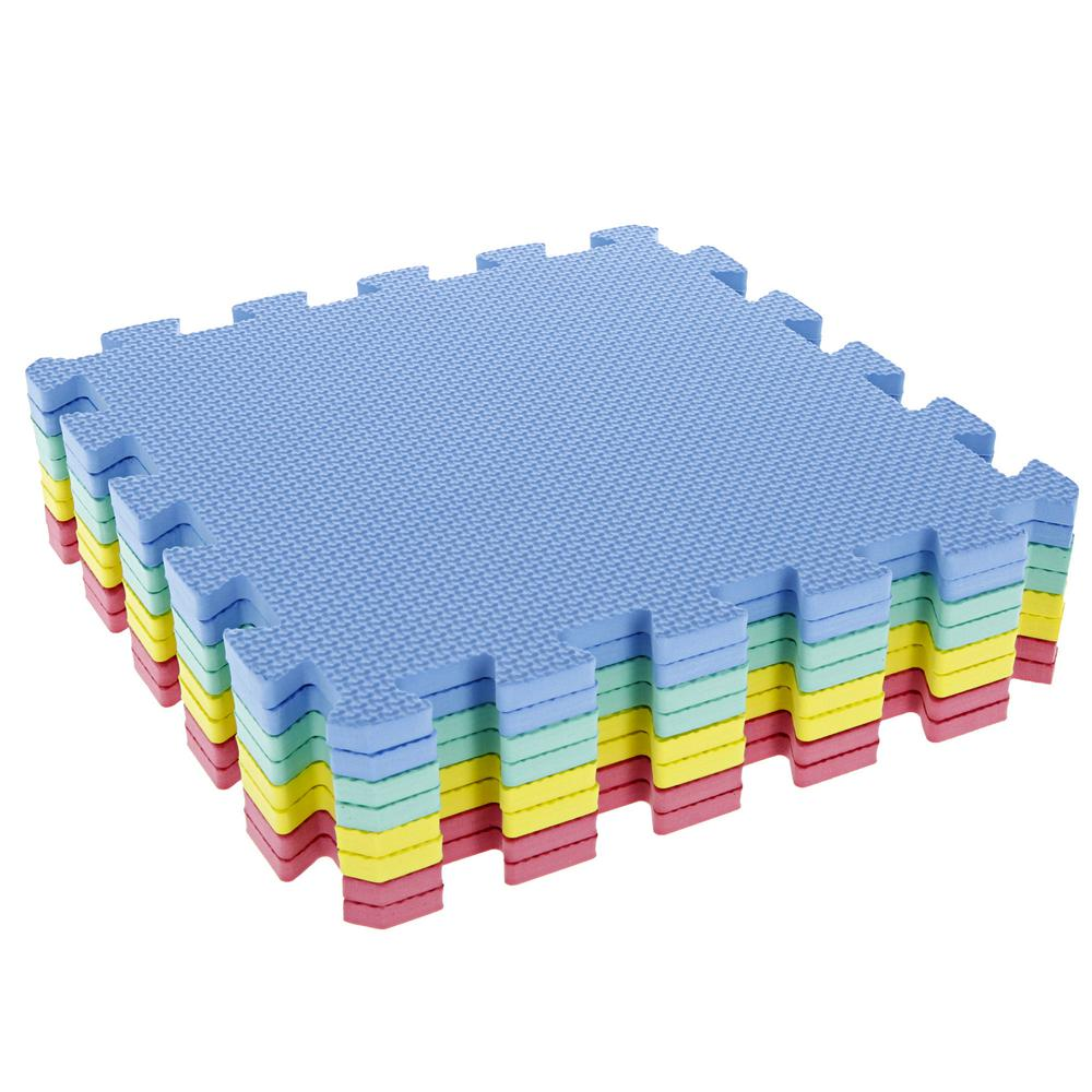 Multi-Color EVA Foam Exercise Mat (8-Piece)