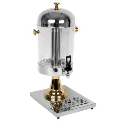 2.2 Gal. Juice Dispenser Stainless Steel with Gold Plated Accents