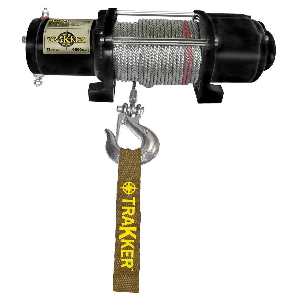 Trakker 4,000 lbs. Utility/ATV 12VDC Winch-KT4000 - The Home Depot on