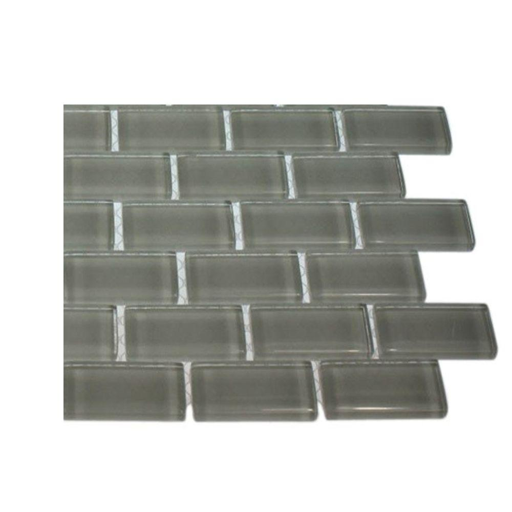 Contempo Bright White Glass Mosaic Floor and Wall Tile - 3