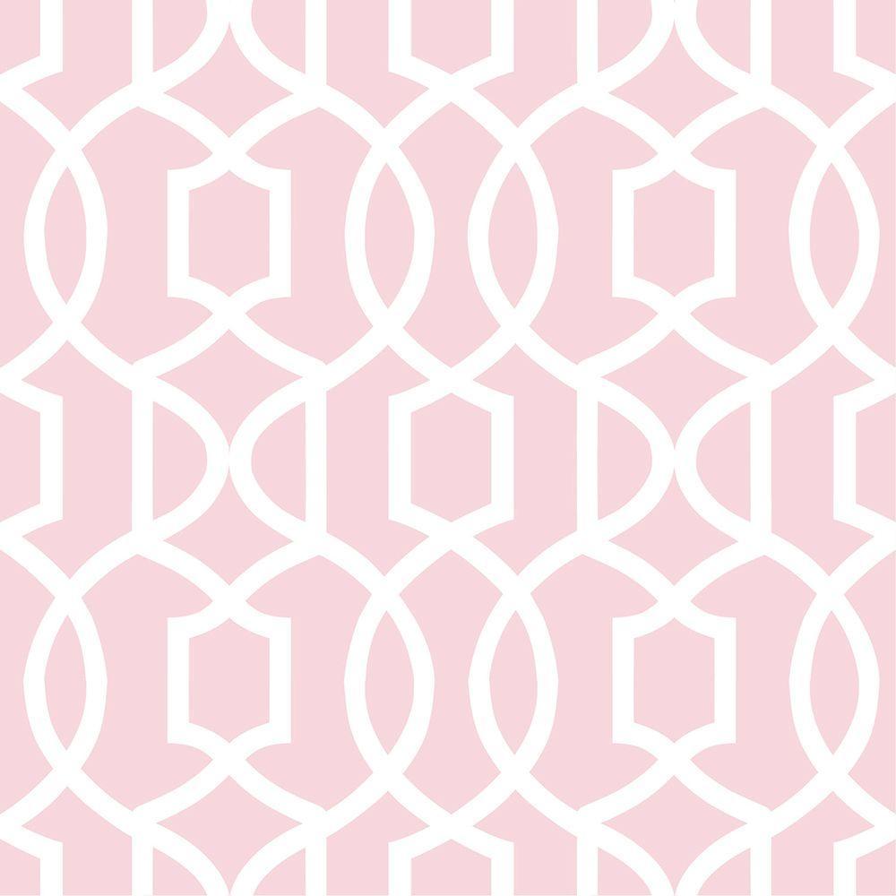Pink Grand Trellis Peel and Stick Wallpaper