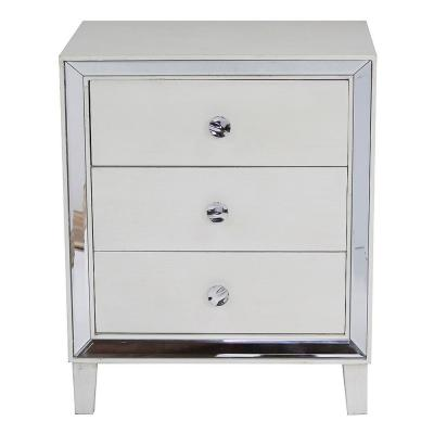 Shelly Antique White Wood Cabinet with a Drawers