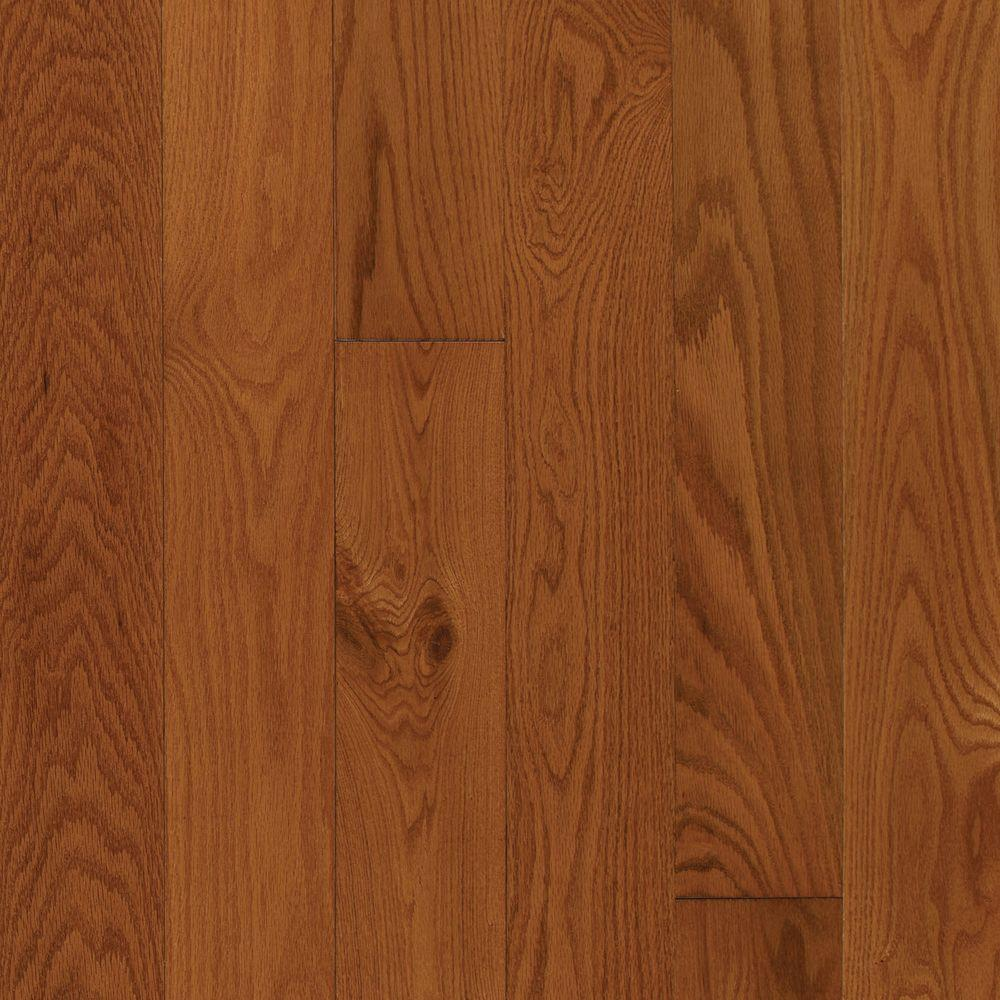 Mohawk Oak Gunstock 3 8 In Thick X 3 1 4 In Wide X Varying Length Engineered Click Hardwood Flooring 23 5 Sq Ft Hgo43 50 The Home Depot