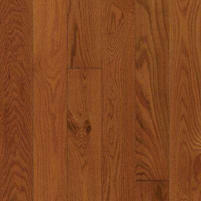 Take Home Sample - Oak Gunstock Engineered Click Hardwood Flooring - 5 in. x 7 in.