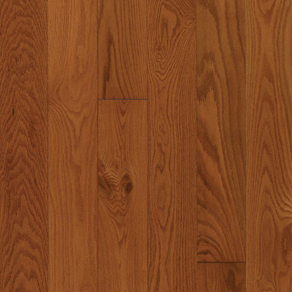 Take Home Sample - Oak Gunstock Engineered Click Hardwood Flooring - 5 in. x 7 in.
