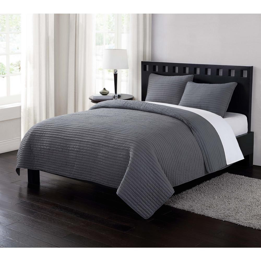This Review Is From Garment Washed Crinkle Gray 3 Piece Full And Queen Quilt With 2 Shams