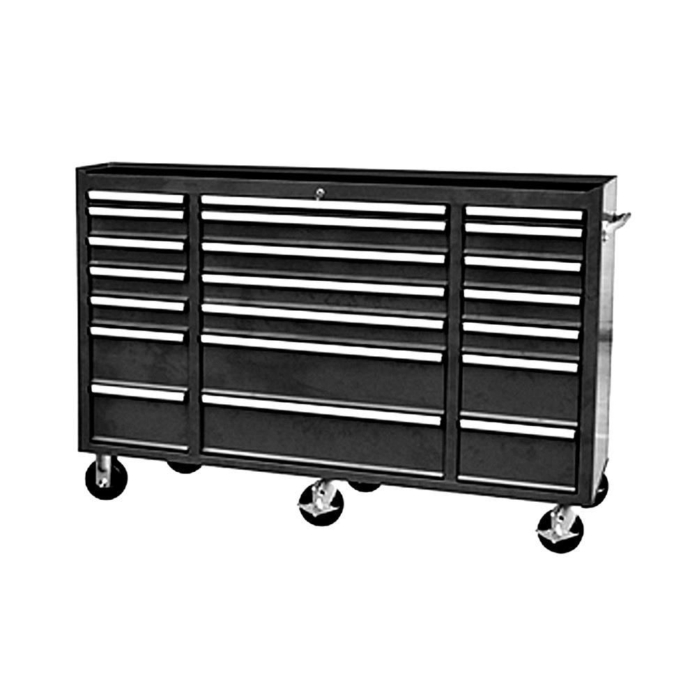 72 in. 21-Drawer Tool Chest Cabinet in Matte Black
