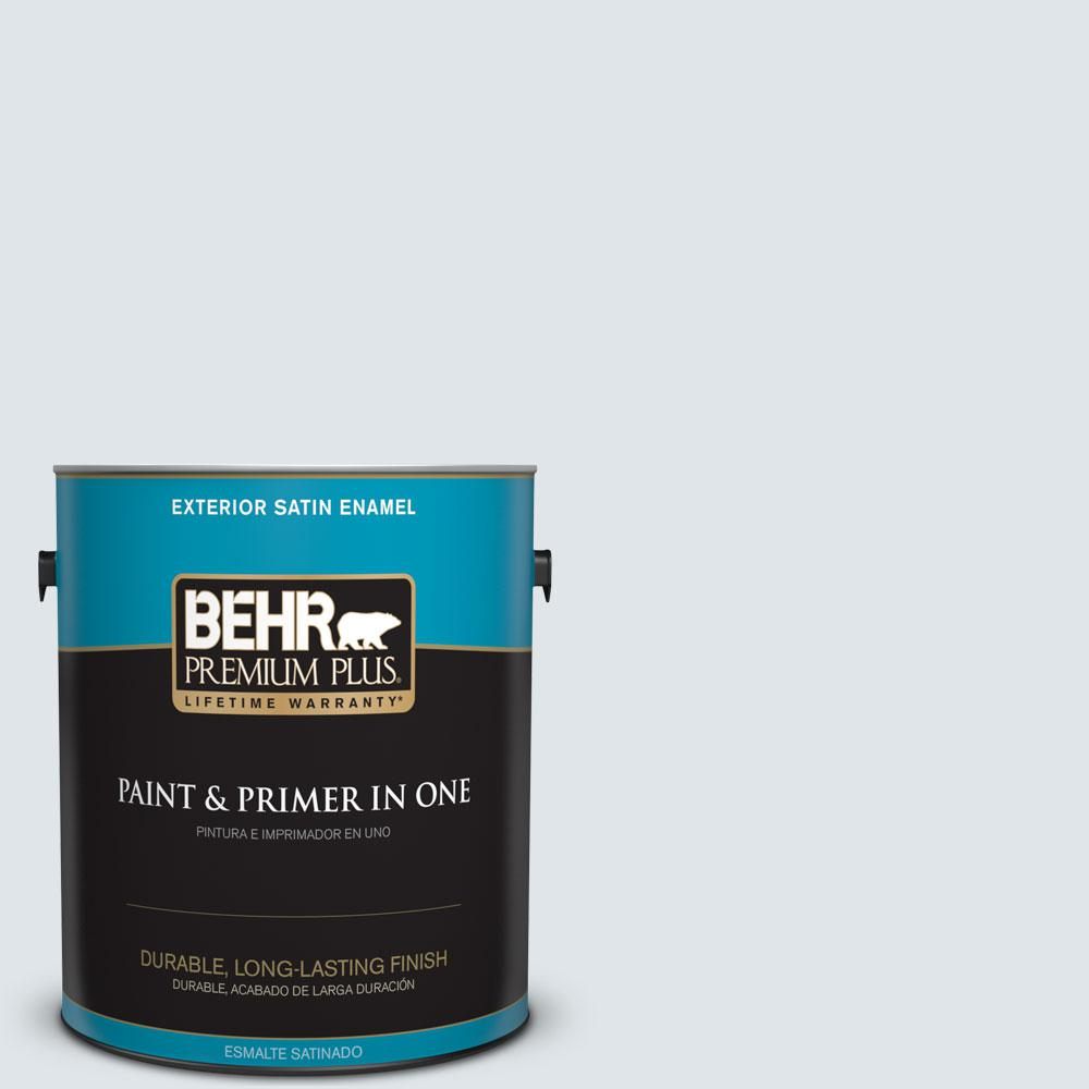 1-gal. #BL-W2 Ice Sculpture Satin Enamel Exterior Paint
