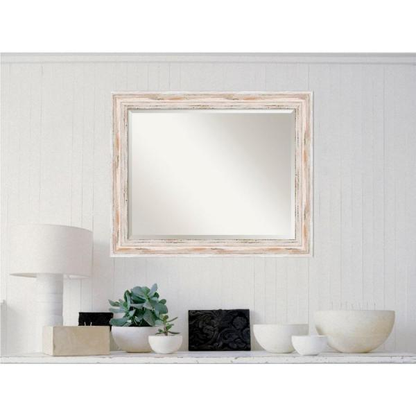 Amanti Art Alexandria White Wash Wood 33 in. x 27 in.