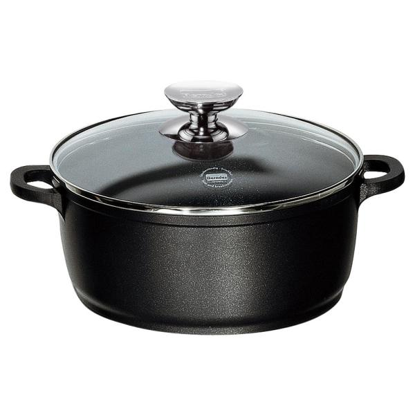 Berndes Vario Click 10 in./4.25 Qt. Induction Round Dutch Oven with Lid Black