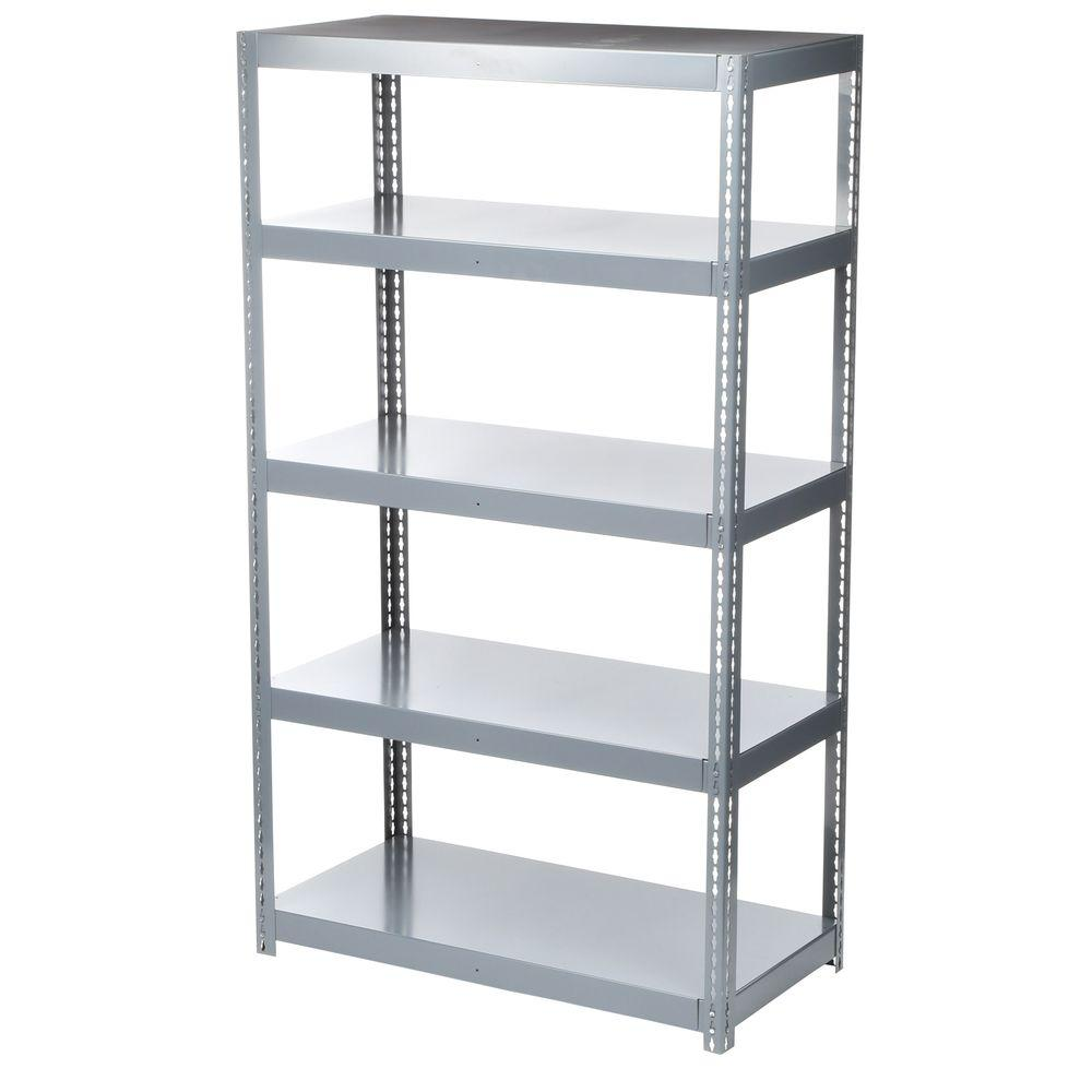 Home Depot Metal Storage Shelves : Edsal in h w d shelf high capacity