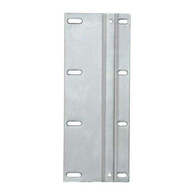 10.63 in. x 4.25 in. x 1.38 in. Frosted Nickel Door Mount Trash Can Bracket in Frosted Nickel